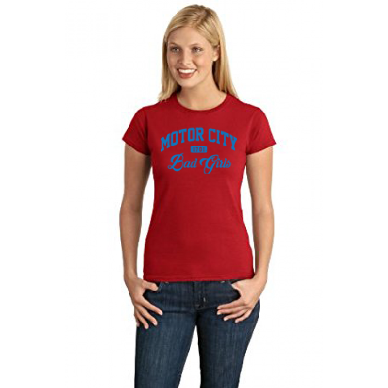 31fc66f9 Motor City Bad Girls Red Blue T-Shirt