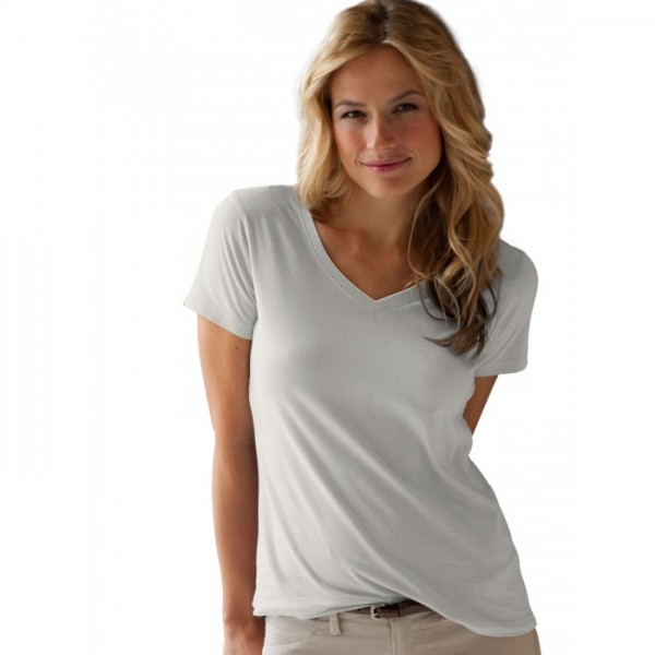 Fruit Of The Loom Ladies HD® V-Neck T-Shirt